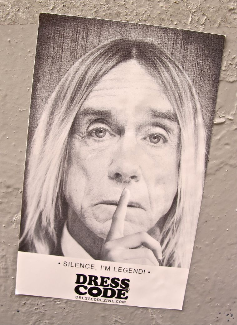 Pitti Uomo Fashion Show in Florence- IGGY POP Sticker